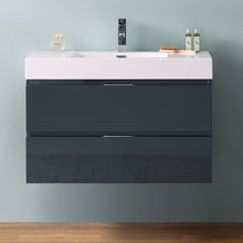 "Load image into Gallery viewer, Fresca Valencia 36"" Dark Slate Gray Wall Hung Modern Bathroom Vanity"