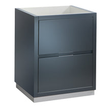 "Load image into Gallery viewer, Fresca Valencia 24"" Dark Slate Gray Free Standing Modern Bathroom Cabinet"
