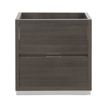 "Load image into Gallery viewer, Fresca Valencia 30"" Gray Oak Free Standing Modern Bathroom Cabinet"