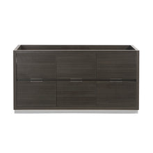 "Load image into Gallery viewer, Fresca Valencia 60"" Gray Oak Free Standing Single Sink Modern Bathroom Cabinet"