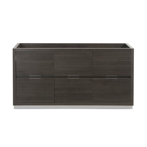"Fresca Valencia 60"" Gray Oak Free Standing Single Sink Modern Bathroom Cabinet"