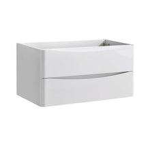 "Load image into Gallery viewer, Fresca Tuscany 36"" Glossy White Wall Hung Modern Bathroom Cabinet"