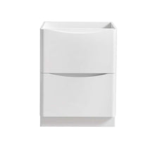 "Load image into Gallery viewer, Fresca Tuscany 24"" Glossy White Free Standing Modern Bathroom Cabinet"