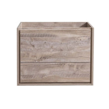 "Load image into Gallery viewer, Fresca Catania 30"" Rustic Natural Wood Wall Hung Modern Bathroom Cabinet"