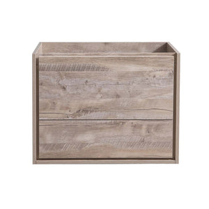 "Fresca Catania 30"" Rustic Natural Wood Wall Hung Modern Bathroom Cabinet"