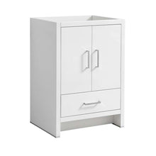 "Load image into Gallery viewer, Fresca Imperia 24"" Glossy White Free Standing Modern Bathroom Cabinet"