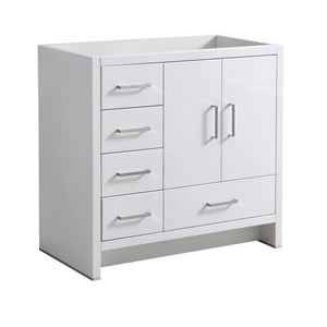 "Fresca Imperia 36"" Glossy White Free Standing Modern Bathroom Cabinet - Left Version"
