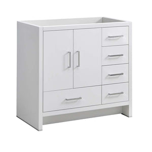 "Fresca Imperia 36"" Glossy White Free Standing Modern Bathroom Cabinet - Right Version"