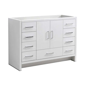 "Fresca Imperia 48"" Glossy White Free Standing Modern Bathroom Cabinet"