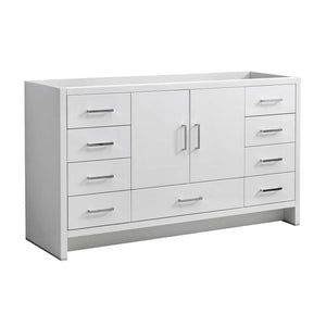 "Fresca Imperia 60"" Glossy White Free Standing Single Sink Modern Bathroom Cabinet"