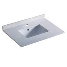 "Load image into Gallery viewer, Fresca Oxford 30"" White Countertop with Undermount Sink"