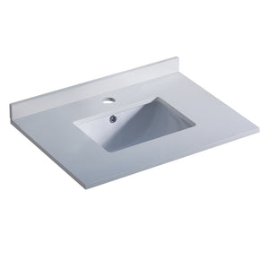 "Fresca Oxford 30"" White Countertop with Undermount Sink"