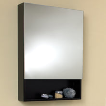 "Load image into Gallery viewer, Fresca 24"" Espresso Bathroom Medicine Cabinet w/ Small Bottom Shelf"