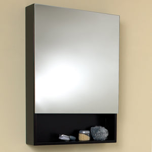 "Fresca 24"" Espresso Bathroom Medicine Cabinet w/ Small Bottom Shelf"