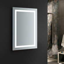 "Load image into Gallery viewer, Fresca Santo 24"" Wide x 36"" Tall Bathroom Mirror w/ LED Lighting and Defogger"