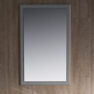 "Fresca Oxford 20"" Gray Mirror"