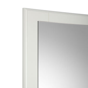 "Fresca Oxford 32"" Antique White Mirror"