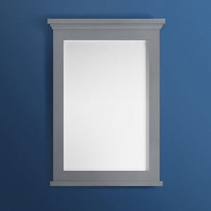 "Fresca Windsor 27"" Gray Textured Bathroom Mirror"