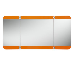"Fresca Energia 48"" Orange Three Panel Folding Mirror"