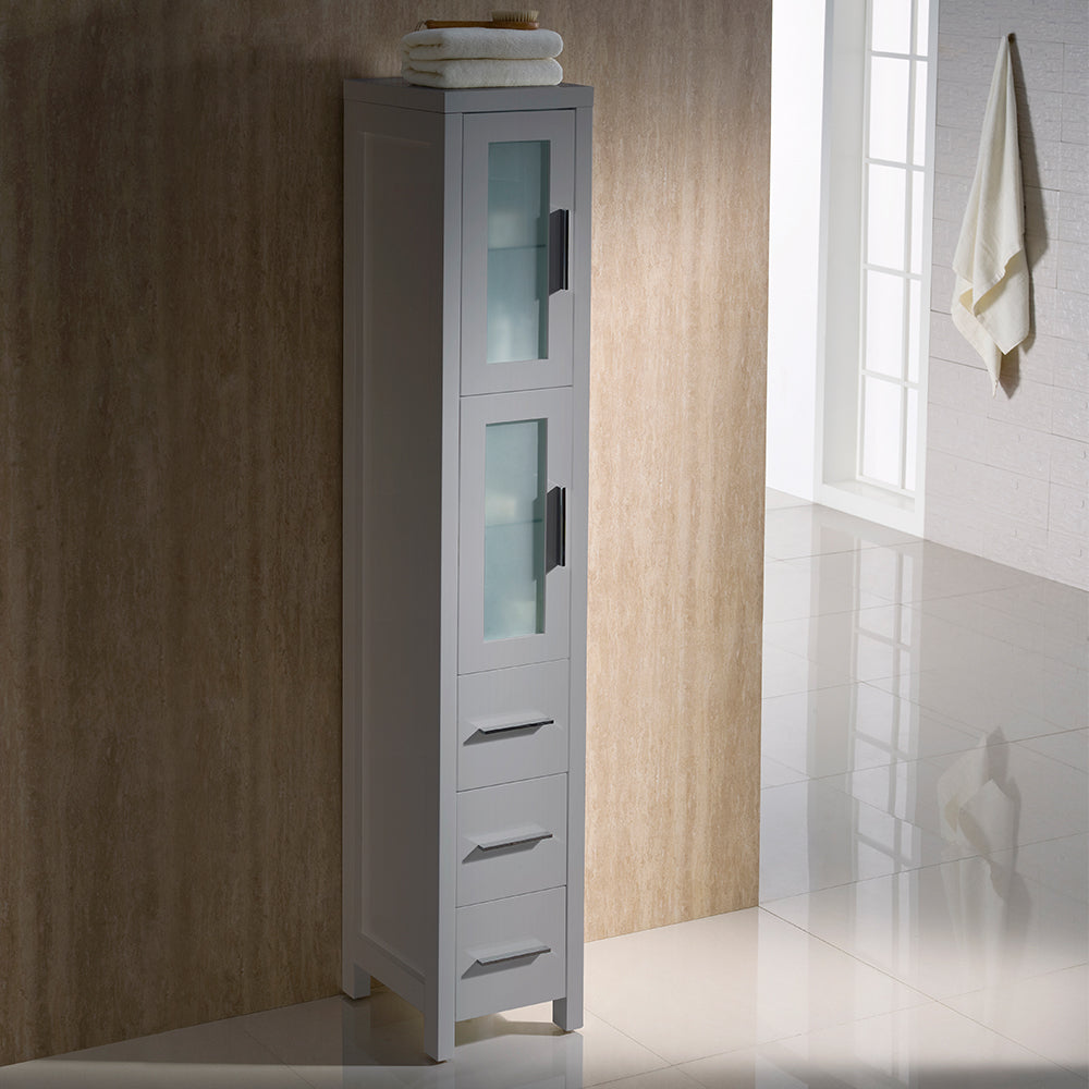 Fresca Torino Gray Tall Bathroom Linen Side Cabinet