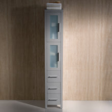Load image into Gallery viewer, Fresca Torino Gray Tall Bathroom Linen Side Cabinet