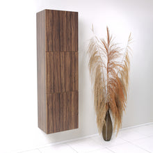Load image into Gallery viewer, Fresca Walnut Bathroom Linen Side Cabinet w/ 3 Large Storage Areas