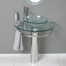 "Load image into Gallery viewer, Fresca Attrazione 30"" Modern Glass Bathroom Vanity w/ Frosted Edge Mirror"