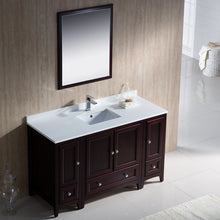 "Load image into Gallery viewer, Fresca Oxford 54"" Mahogany Traditional Bathroom Vanity"
