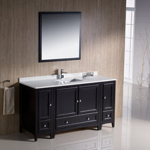 "Load image into Gallery viewer, Fresca Oxford 60"" Espresso Traditional Bathroom Vanity"