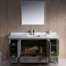 "Load image into Gallery viewer, Fresca Oxford 60"" Gray Traditional Bathroom Vanity"