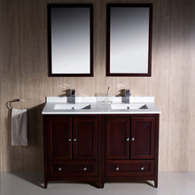 "Load image into Gallery viewer, Fresca Oxford 48"" Mahogany Traditional Double Sink Bathroom Vanity"