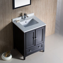 "Load image into Gallery viewer, Fresca Oxford 24"" Espresso Traditional Bathroom Vanity"