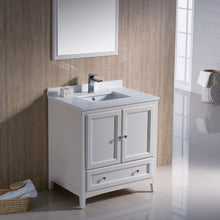 "Load image into Gallery viewer, Fresca Oxford 30"" Antique White Traditional Bathroom Vanity"