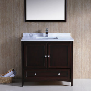 "Fresca Oxford 36"" Mahogany Traditional Bathroom Vanity"