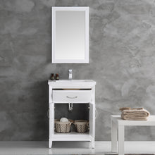 "Load image into Gallery viewer, Fresca Cambridge 24"" White Traditional Bathroom Vanity w/ Mirror"