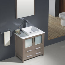 "Load image into Gallery viewer, Fresca Torino 30"" Gray Oak Modern Bathroom Vanity w/ Vessel Sink"