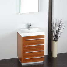 "Load image into Gallery viewer, Fresca Livello 24"" Teak Modern Bathroom Vanity w/ Medicine Cabinet"