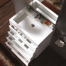 "Load image into Gallery viewer, Fresca Livello 30"" White Modern Bathroom Vanity w/ Medicine Cabinet"