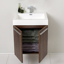 "Load image into Gallery viewer, Fresca Alto 23"" Walnut Modern Bathroom Vanity w/ Medicine Cabinet"