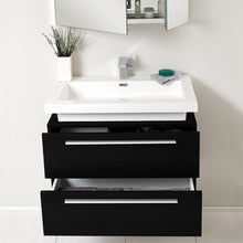 "Load image into Gallery viewer, Fresca Medio 32"" Black Modern Bathroom Vanity w/ Medicine Cabinet"
