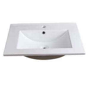 "Fresca Torino 24"" White Integrated Sink / Countertop"