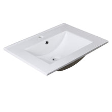 "Load image into Gallery viewer, Fresca Torino 24"" White Integrated Sink / Countertop"
