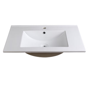 "Fresca Torino 30"" White Integrated Sink / Countertop"