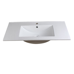 "Fresca Torino 36"" White Integrated Sink / Countertop - FVS6236WH"