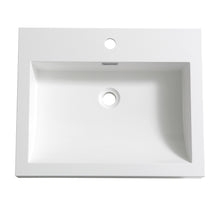 "Load image into Gallery viewer, Fresca Nano 24"" White Integrated Sink / Countertop"