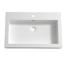 "Load image into Gallery viewer, Fresca Livello 30"" White Integrated Sink / Countertop"