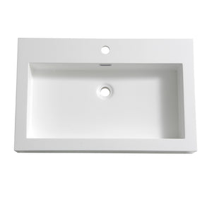 "Fresca Livello 30"" White Integrated Sink / Countertop"
