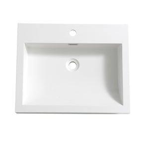 "Fresca Alto 23"" White Integrated Sink / Countertop"