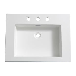 "Fresca Potenza 28"" White Integrated Sink / Countertop"