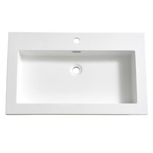 "Fresca Medio 32"" White Integrated Sink / Countertop"
